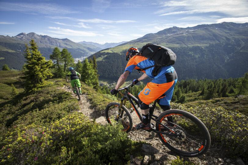 Mountainbike Davos Klosters Singletrail